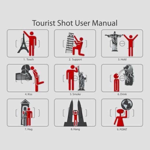 Manual prático de fotos em pontos turísticos.